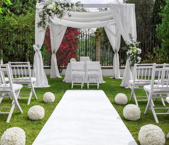 Carpet Aisle Runner White - Carpet Vidalondon
