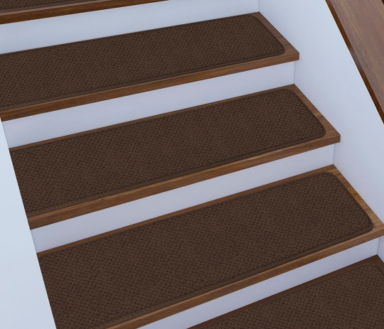 12 Skid Resistant Carpet Stair Treads